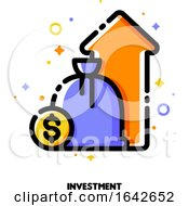 Icon Of Investment Portfolio Growth Or Revenue Increase For Financial Performance Report Or Income Improvement Strategy Concept
