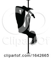 Pole Dancing Woman Silhouette