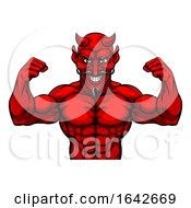 Devil Sports Mascot Cartoon Character by AtStockIllustration
