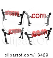 Black People Carrying Dot Coms Clipart Illustration Graphic