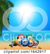 Summer Bingo Lottery Ballson On The Beach