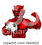 Devil Soccer Football Sports Mascot Holding Ball by AtStockIllustration
