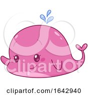 05/06/2019 - Cartoon Cute Pink Whale