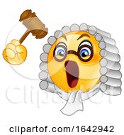 05/06/2019 - Cartoon Emoji Smiley Judge Banging A Gavel
