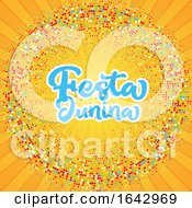 Festa Junina Starburst Background