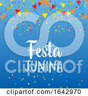 Festa Junina Background With Banners And Confetti