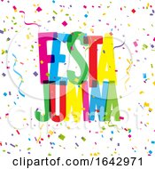 Festa Junina Confetti Background