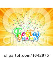 Festa Junina Background With Colourful Lettering And Confetti