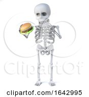 3d Skeleton Loves Burgers