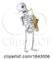 3d Skeleton Plays Saxophone