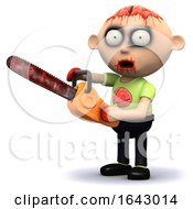 3d Zombie Chainsaw by Steve Young
