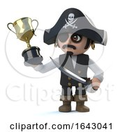 3d Pirate Captain Has Won The Gold Cup Trophy Award