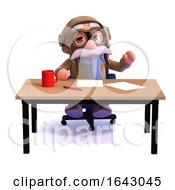 3d Pilot Waving At His Desk