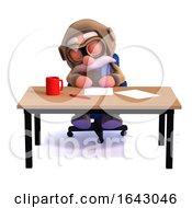 3d Pilot Sleeps At His Desk