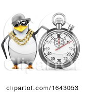 3d Penguin Rapper With A Stopwatch by Steve Young