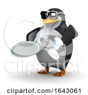 3d Penguin Holding A Platter by Steve Young