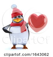 Poster, Art Print Of 3d Winter Penguin Feels The Love