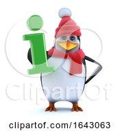 3d Winter Penguin Has Information