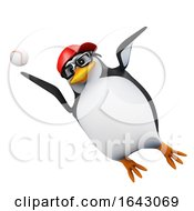 3d Penguin Leaps To Catch Baseball
