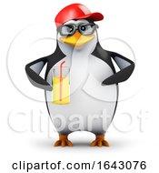 Poster, Art Print Of 3d Penguin Drinks Juice