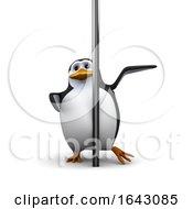 3d Penguin With A Pole