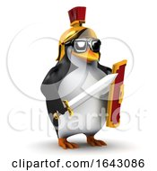 3d Penguin Roman Soldier by Steve Young