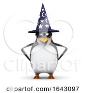 3d Wizard Penguin