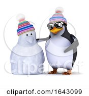 3d Penguin And Snowman