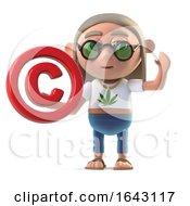 3d Hippie Stoner Has A Copyright Symbol