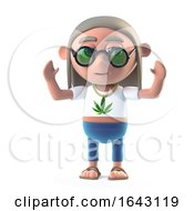 3d Hippy Dope Smoker Is Cheering