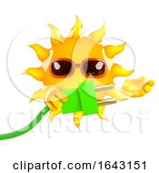 3d Sun Character Connects The Green Energy