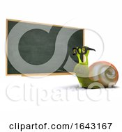 3d Snail Teaching At The Blackboard by Steve Young