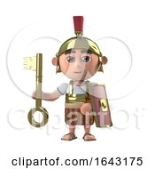 3d Roman Centurion Soldier Has A Gold Key