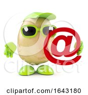 3d Potato Holding An Email Address Symbol by Steve Young