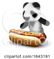 3d Baby Panda Bear Loves Hotdogs by Steve Young