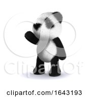 3d Pointing Panda by Steve Young