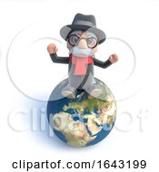 3d Old Man Is Sitting On Top Of The World by Steve Young