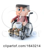 3d Boy In Wheelchair Has A Coffee Break by Steve Young