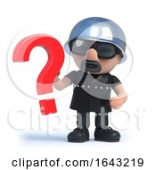 3d Biker Has A Question Mark Symbol by Steve Young