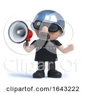3d Biker Shouts Through A Megaphone by Steve Young