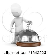 3d Little Person Rings The Service Bell