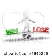 3d Little Man Balances Win Or Lose