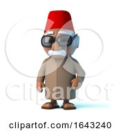 3d Moroccan Man Wearing A Fez by Steve Young