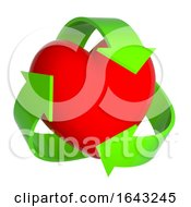 Poster, Art Print Of 3d Heart With Recycle Symbol