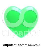 Poster, Art Print Of 3d Green Heart