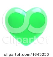 3d Green Heart by Steve Young