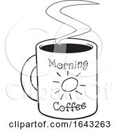Black And White Cup Of Morning Coffee
