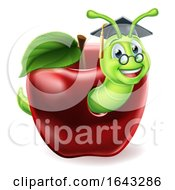 Bookworm Apple Cartoon
