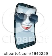 Mobile Phone Cool Shades Cartoon Mascot