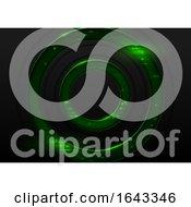 Futuristic Green Circle Background